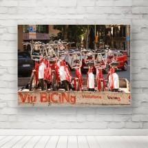 Plakat rowery na przyczepce