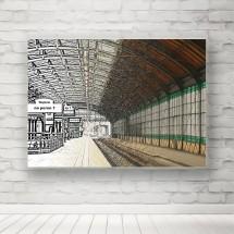 Plakat Peron Kolejowy