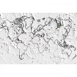 Fototapeta z mapą na starym papierze