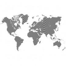 Fototapeta linie na mapie świata