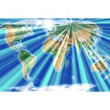 Fototapeta geograficzna mapa świata