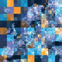 Fototapeta kolorowa mapa Europy