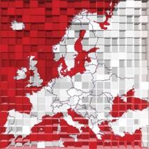 Fototapeta czerwona mapa Europy