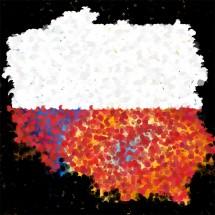 Fototapeta artystyczna mapa Polski