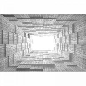 Fototapeta drewniany tunel