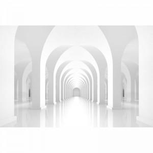 Fototapeta biała geometria kolumnady
