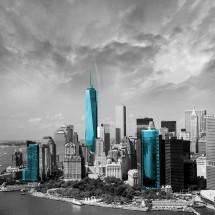 Fototapeta turkusowy Manhattan