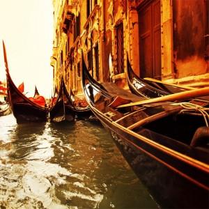 Fototapeta Wenecja gondole na kanale