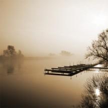 Fototapeta pomost jezioro