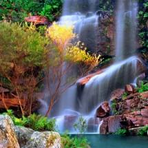 Fototapeta tęczowy wodospad