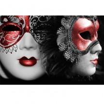 Fototapeta czerwone maski weneckie