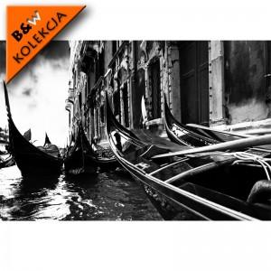 Fototapeta krajobraz Wenecji czarno biała