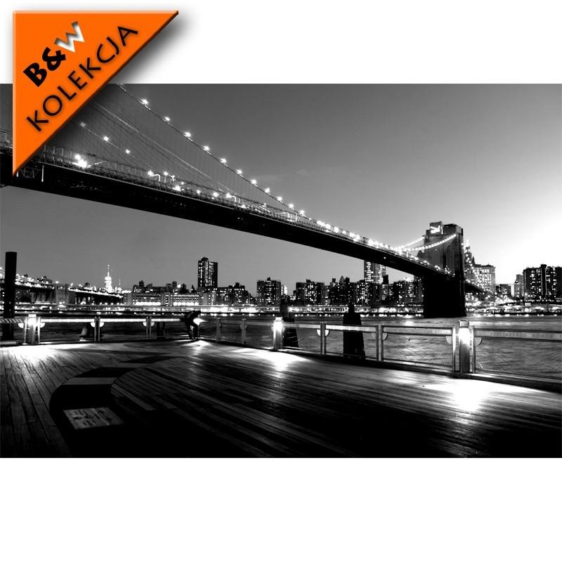 Fototapeta New York nocą - most Brookliński
