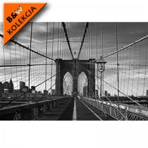 Fototapeta most Brookliński - czarno biała