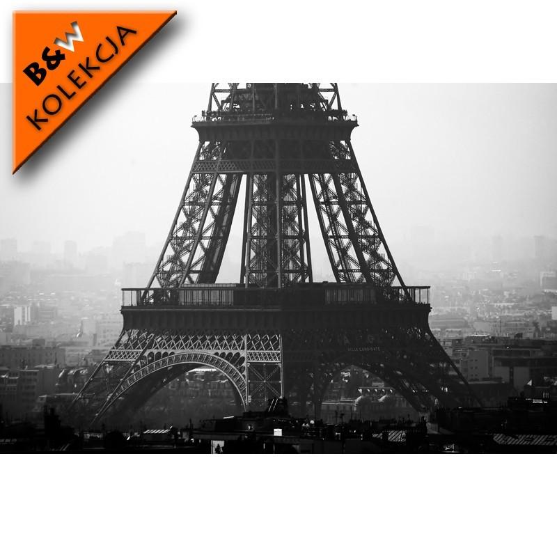 Wieża Eiffla - fototapeta czarno biała