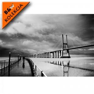 Fototapeta most rower | Czarno biała