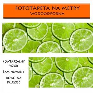 Plastry limonki - zielona fototapeta do kuchni