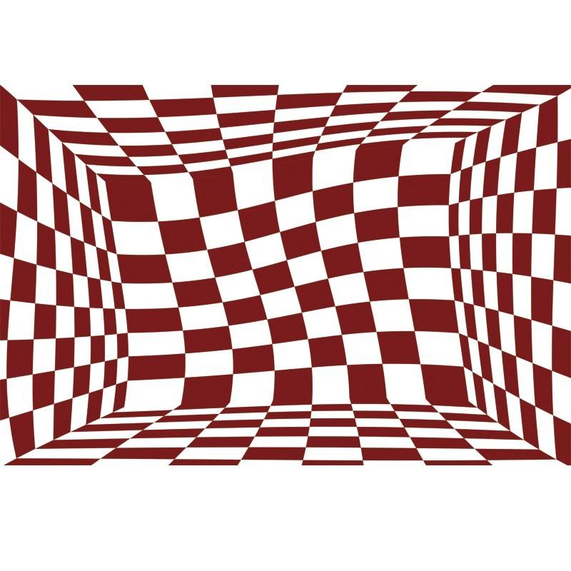 Fototapeta zmieniająca optykę - falujące kwadraty