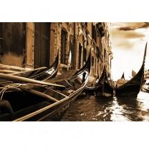 Fototapeta Weneckie gondole w sepii