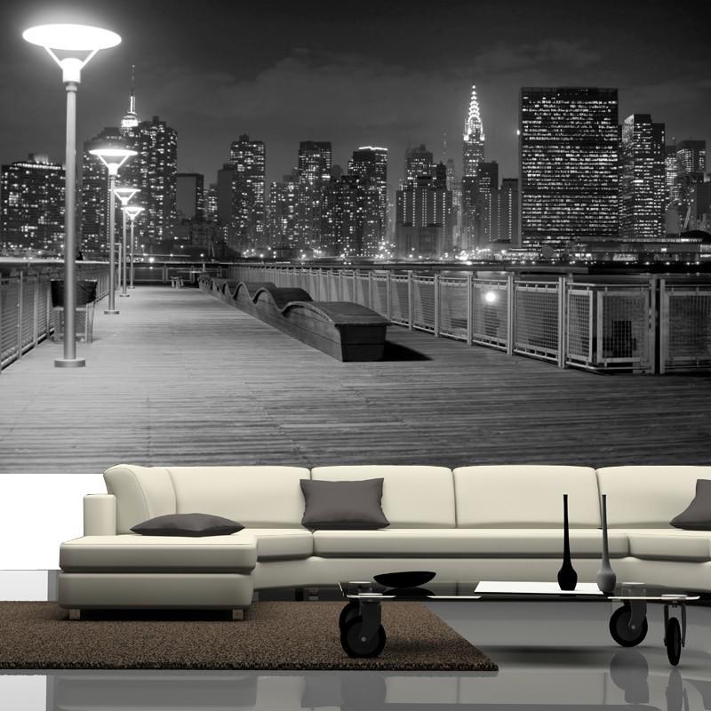 Fototapeta New York w aranżacji salonu ze sklepu Agaton Studio