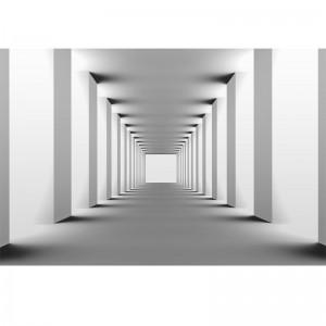Fototapeta tunel, kolumny - powiększająca wnętrze