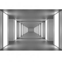 Fototapeta czarno biała Głębia tunelu