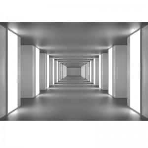 Fototapeta tunel czarno biała