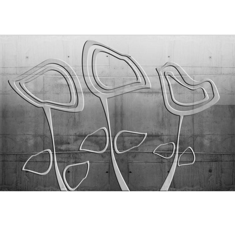 Fototapeta betonowe kwiaty