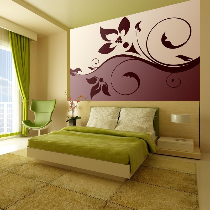 Стены в спальне рисунок