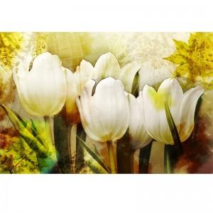 Fototapeta w stylu retro z tulipanami