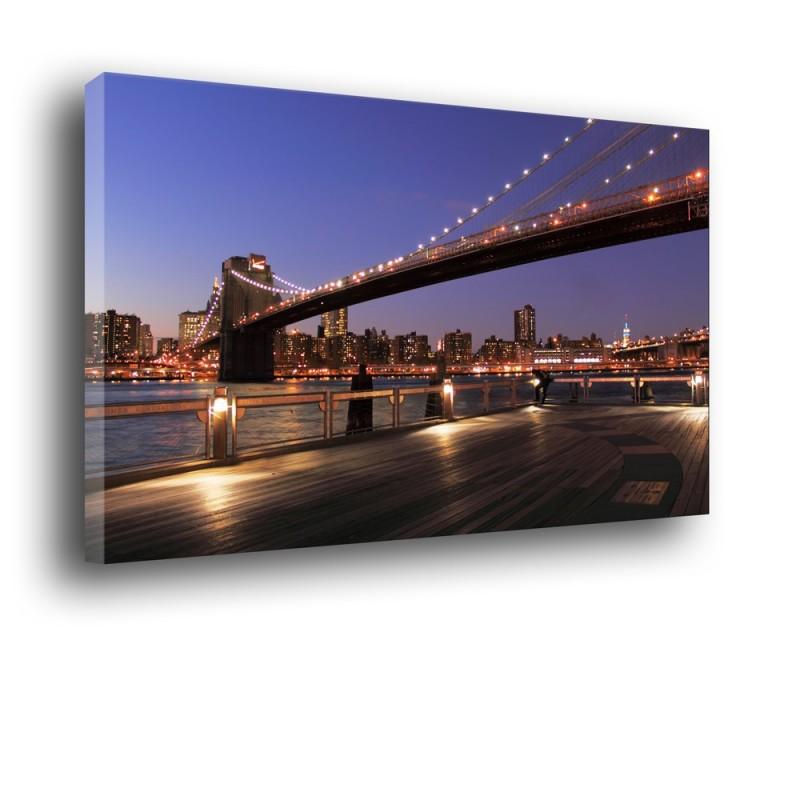 Obraz most nocą nr 2011