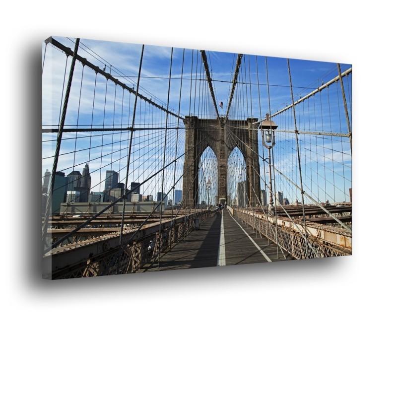 Ozdoba ściany w formie obrazu Brooklyn Bridge nr 2018