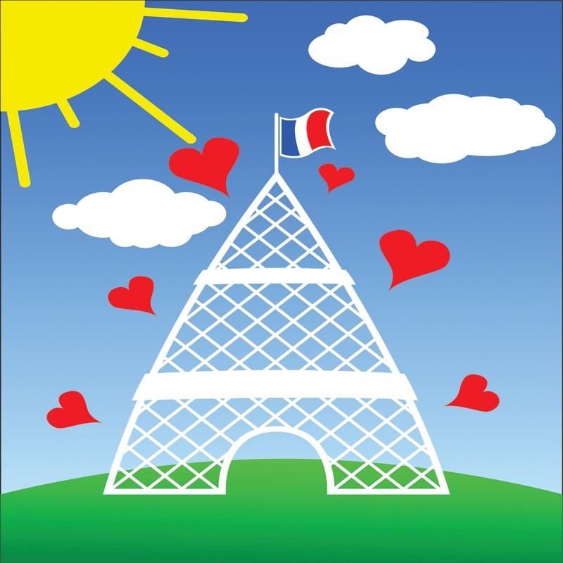 Fototapeta wieża Eiffela dla dzieci