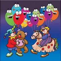 Fototapeta na ścianę balony - rysunkowa