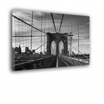 Ozdoba ściany w formie obrazu most Brookliński czarno biały nr 2155