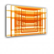 Ozdoba ściany w formie obrazu - pomarańczowa kratka Abstrakcja nr 2158