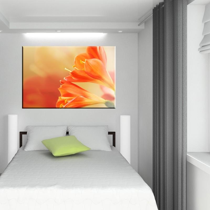 Obraz kwiaty do sypialni