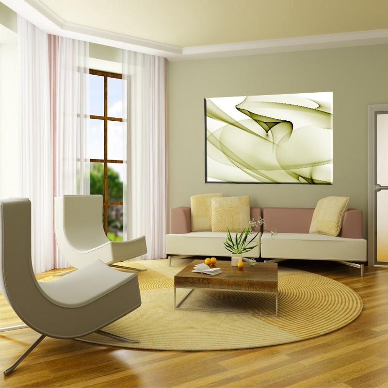 Obraz Fale Zielone Obraz Motyw Abstrakcji