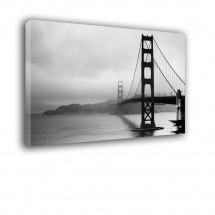Obraz czarno biały Golden Gate nr 2292