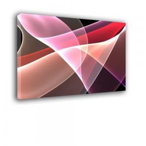Ozdoba ściany w formie obrazu - biało czerwony - Abstrakcja nr 2440