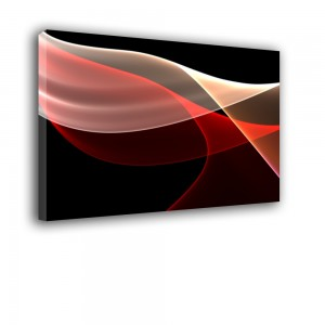 Ozdoba ściany w formie obrazu patriotyczny - Polska flaga - Abstrakcja nr 2443
