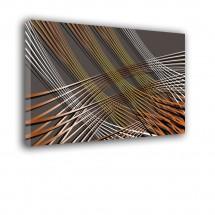 Ozdoba ściany w formie obrazu - grafitowe tło - Abstrakcja nr 2478