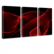 Czerwona abstrakcja - tryptyk nr 2624
