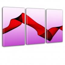 Różowo fioletowa abstrakcja - tryptyk nr 2625