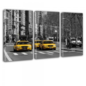 Taxi New York obraz tryptyk nr 2630