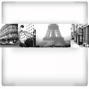 Paryż kolaż fototapeta