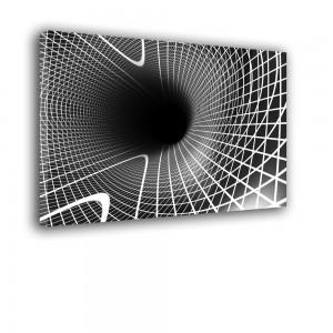 Nowoczesna dekoracja w formie obrazu ściennego - czarno biały nr 2336