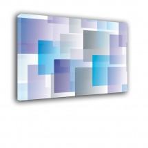 Ozdoba ściany w formie obrazu kolorowe kwadraty nr 2349