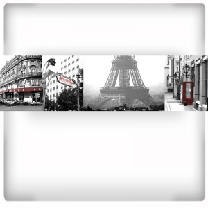 Tapeta Kolaż zdjęć Paryża