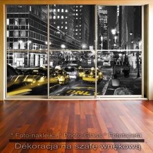 Ulica Nowego Jorku - dekoracja na szafę